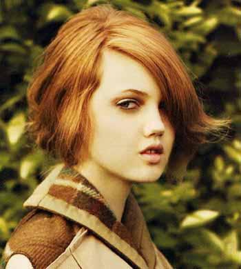 如果红色的发色与波西米亚发型搭配在一起的话,为原本的发图片