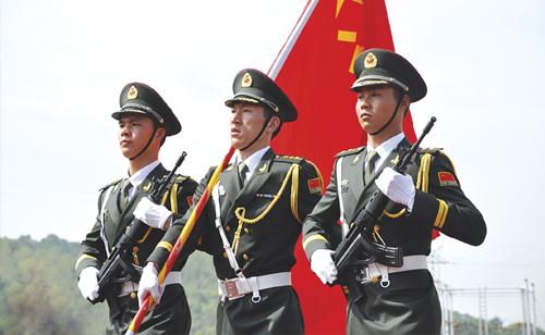 中国军人敬礼头像图片