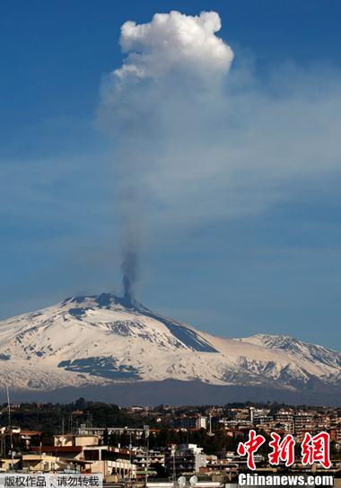 歐洲最高活火山埃特納火山年內第四次噴